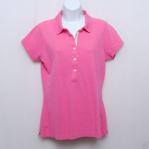 Lilly Pulitzer hot pink short sleeve polo